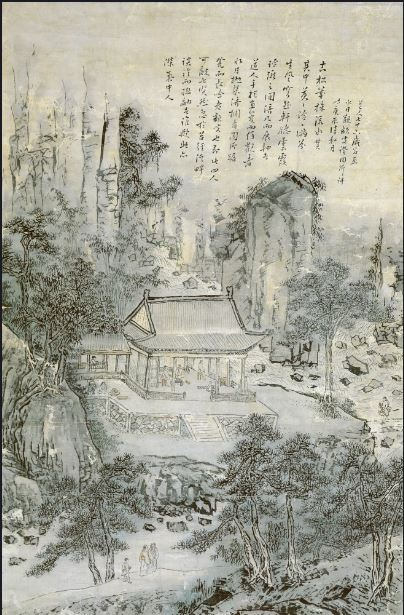 ▲맑은 선비들의 즐거운 모임을 묘사한 이인문(1745~1821)의 '누각아집도(樓閣雅集圖)'