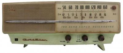 ▲1959년 금성사가 개발한 최초의 국산라디오 'A-501'.사진제공 코베이