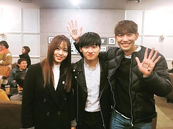 ▲배우 김소현, 이다윗, 강기영(사진=강기영 인스타그램)