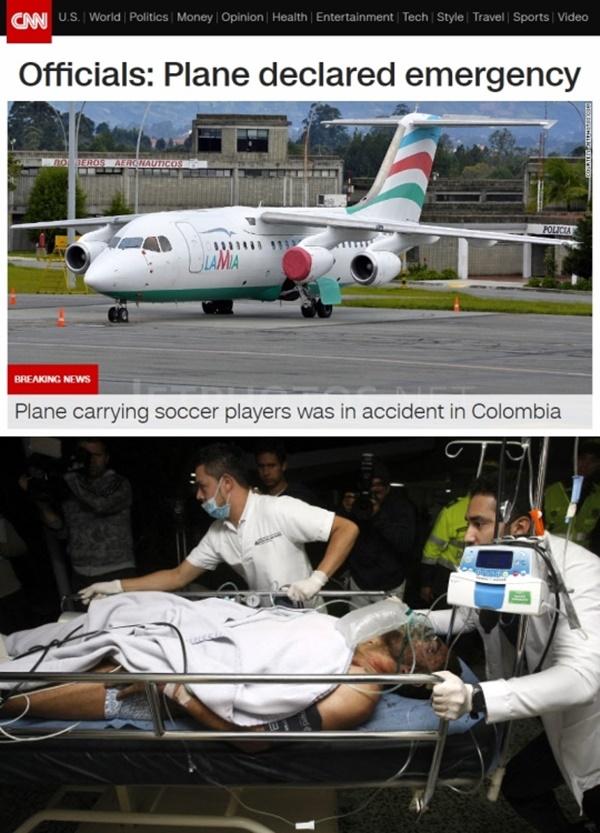 (▲AP통신, CNN 브라질 샤페코엔시 사고)