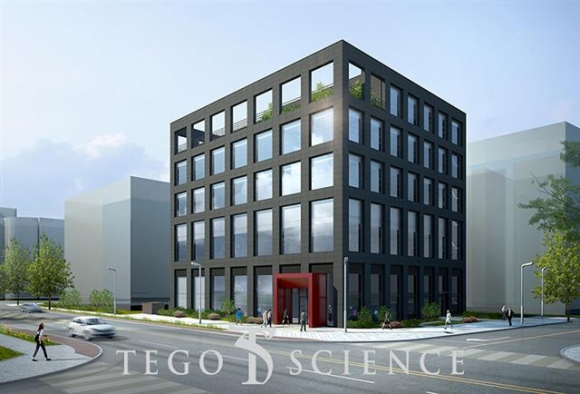 ▲테고사이언스는 자기세포 기반의 화상치료로 안정적 수익을 확보하고, 획기적인 주름개선 세포치료제를 올해 하반기에 선보이기 위해 연구에 박차를 가하고 있다. 사진은 새로 건립 중인 연구개발(R&D)센터의 조감도.