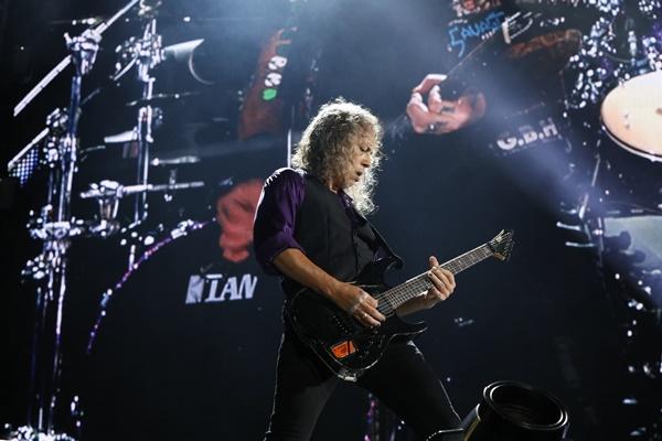 ▲밴드 메탈리카의 기타리스트 커크 해밋(사진=A.I.M)