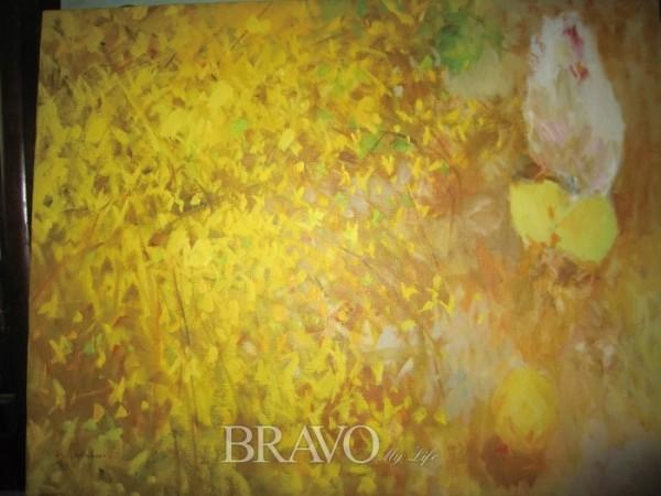 ▲권사극 <봄> 캔버스에 유채 53cm x 45.5cm 1993년. (이재준 미술품 수집가)