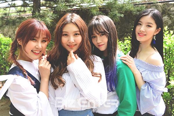▲(왼쪽부터) 걸그룹 프리스틴의 예하나, 성연, 카일라, 시연(사진=윤예진 기자 yoooon@)