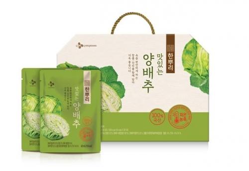 ▲CJ제일제당 한뿌리 맛있는 양배추. 사진제공 CJ제일제당