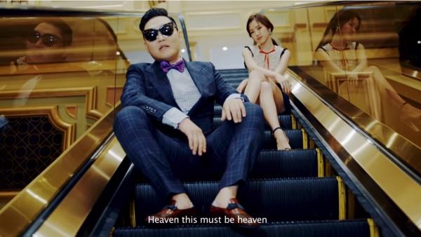 ▲싸이 '뉴 페이스' MV(사진=YG엔터테인먼트)
