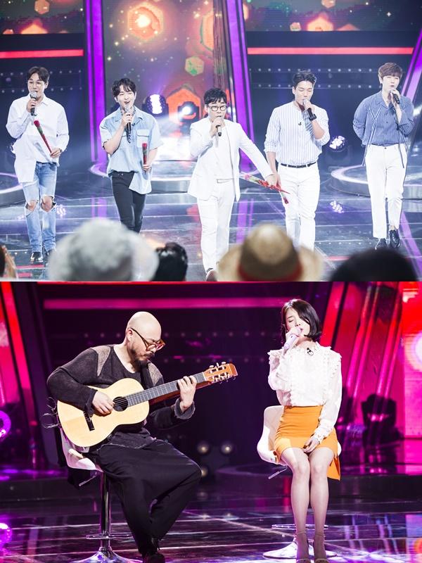 ▲SBS '판타스틱듀오2' 김연우, 아이유가 꾸민 컬래버레이션 무대(사진=SBS)