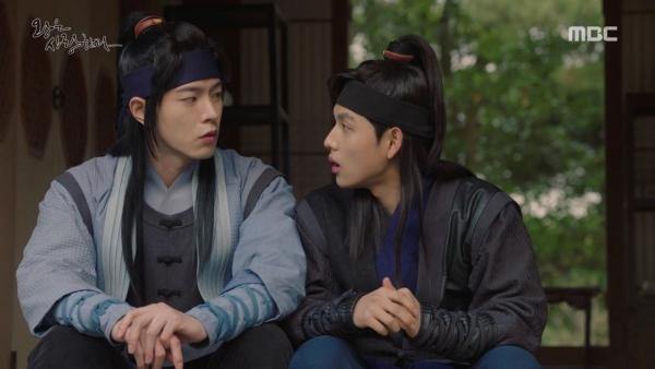 ▲왕린 역의 배우 홍종현(왼쪽)과 왕원 역의 배우 임시완(사진=MBC '왕은 사랑한다')