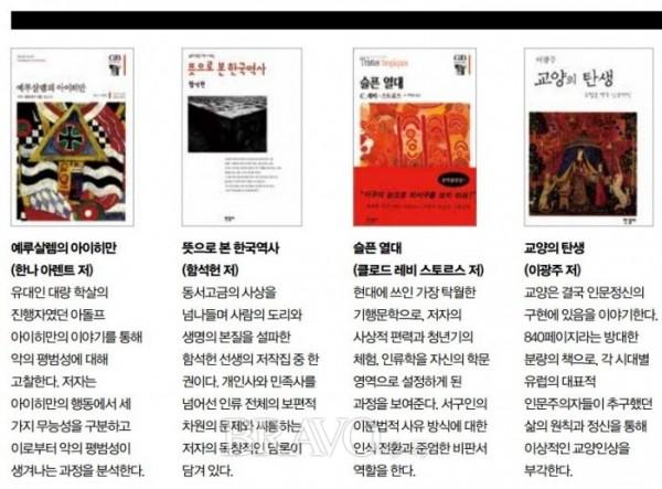 ▲김언호 대표가 추천하는 한길사 도서 4選