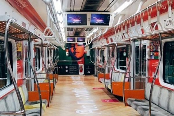 ▲7월 한 달간 운영된 서울지하철 3호선 지드래곤 열차(사진=온라인 커뮤니티)