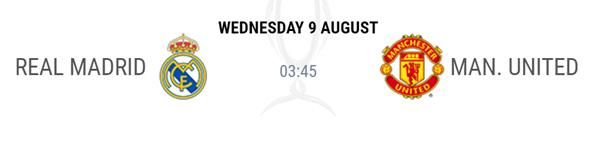 ▲레알-맨유 UEFA 슈퍼컵이 9일(이하 한국시간) 오전 3시 45분 시작된다.(사진=UEFA)