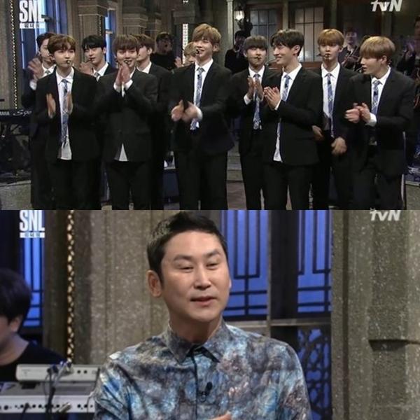 ▲'SNL' 워너원(출처=tvN 'SNL 코리아 시즌9' 영상 캡처)