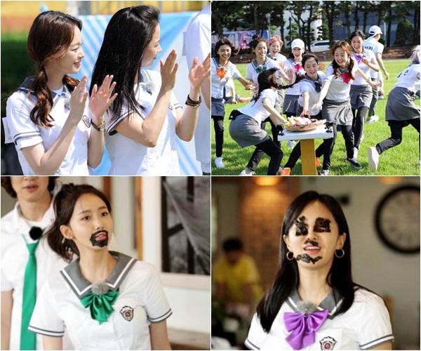 ▲전소민(위 왼), 송지효, 소녀시대 윤아, 유리(사진제공=SBS)
