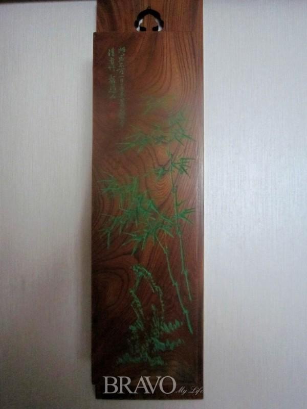 ▲곽금원 <고비> 느티나무 판재에 서각 9cm x 74cm x16cm 2011년(이재준)