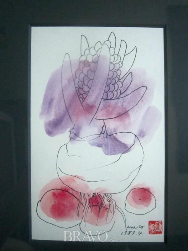 ▲홍종명 <히아신스> 종이에 수채 25.8cm x 17.9cm 1987년(이재준)