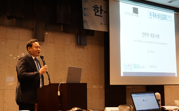 ▲임정희 인터베스트 전무가 12일 서울 양재동 엘타워에서 열린