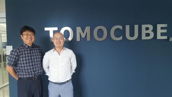 ▲(left)Ki-hyun Hong, CEO of Tomocube (right) Young-keun Park, CTO