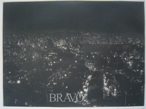 ▲2 김승연 <Night Landscape-9502> 판화지에 메조틴트 42cm x 31cm 1995년