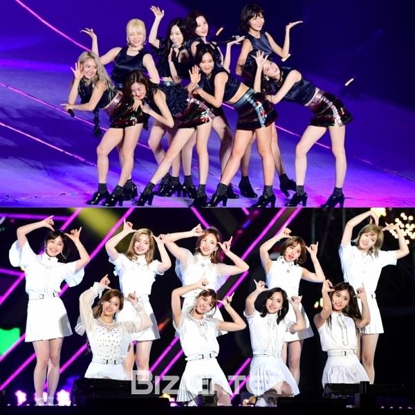 ▲소녀시대, 트와이스(사진=비즈엔터)