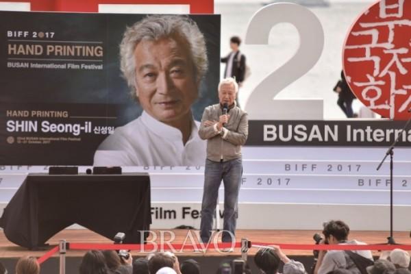 ▲핸드프린트 행사(10월 14일)(사진 부산국제영화제 제공)