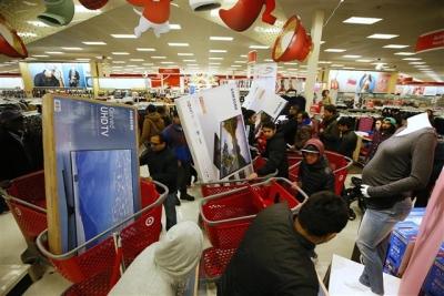 ▲24일(현지시간) 블랙 프라이데이를 시작으로 미국 소매업계 초대형 할인 행사가 열린다. AP/뉴시스