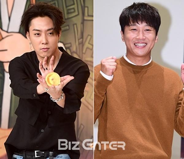 ▲그룹 젝스키스 은지원(왼쪽) 배우 차태현(사진=비즈엔터DB)