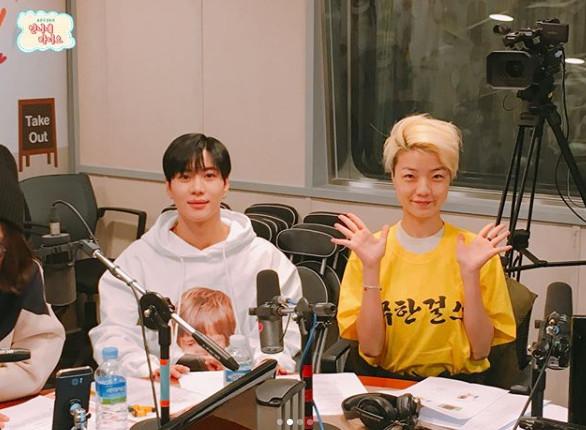 ▲태민(왼), 안영미(출처=SBS 러브FM '송은이 김숙 언니네 라디오' 공식SNS)