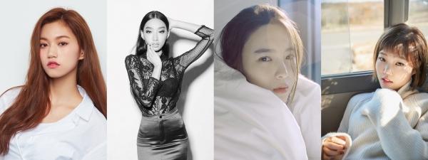 ▲'겟잇뷰티 2018' MC군단 김도연, 문가비, 김수미와 스페셜크루 이수현(사진=온스타일)