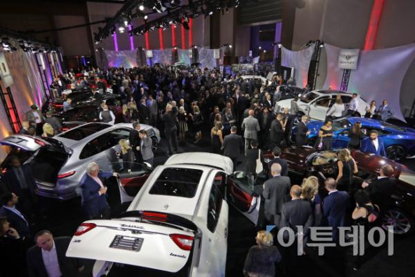 ▲현지시각으로 13일 저녁 북미오토쇼 전야제 행사인 '더 갤러리' 이벤트가 열렸다. (사진제공=NAISA미디어)