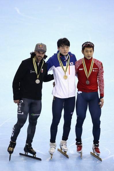 ▲13/14시즌 상하이 월드컵 1500m 우승 당시 모습(출처=국제빙상경기연맹)