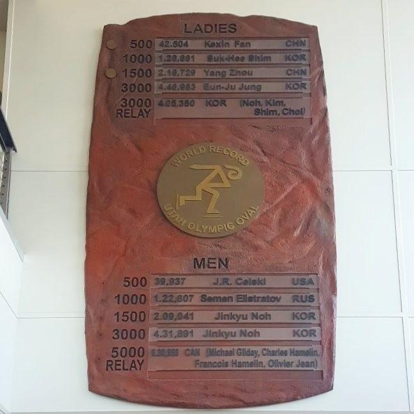 ▲3000m 슈퍼파이널 세계신기록 보유자로 기록돼 있는 故노진규.(출처=심석희 인스타그램)