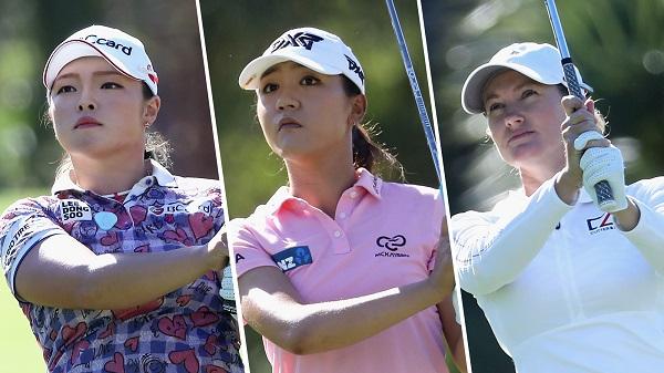 ▲장하나-리디아 고-사라 제인 스미스(왼쪽부터)(사진=LPGA)