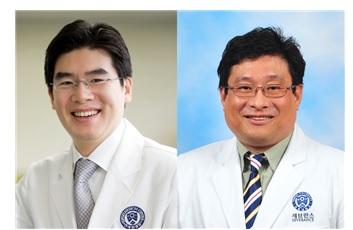 ▲정재호 교수(왼쪽), 박기청 교수