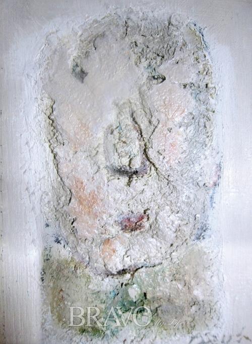 ▲[그림2] 신양섭 '얼굴' 캔버스에 유채 28×18cm, 1988년(이재준 미술품 수집가)