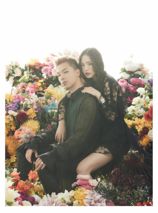 ▲태양·민효린(사진제공=YG엔터테인먼트 제공)
