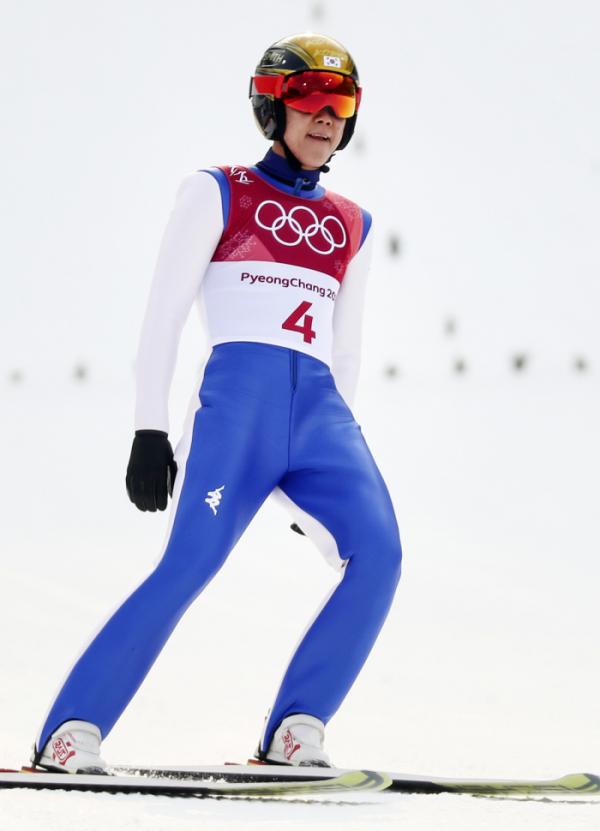 ▲올림픽 남자 노르딕복합 노멀힐에 출전한 대한민국 박제언 선수(연합뉴스)