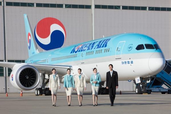 ▲대한항공 차세대 항공기 보잉 787-9.  사진제공 대한항공