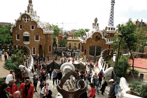 ▲구엘 공원의 가우디 건축물(이신화 여행작가)