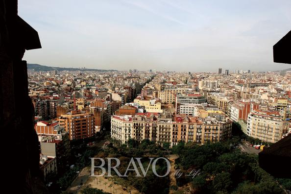 ▲성당에서 바라본 바르셀로나 시내 모습(이신화 여행작가)
