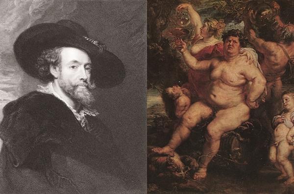 ▲벨기에 화가 페테르 루벤스(왼쪽)와 그가 그린 '바쿠스'(1596)