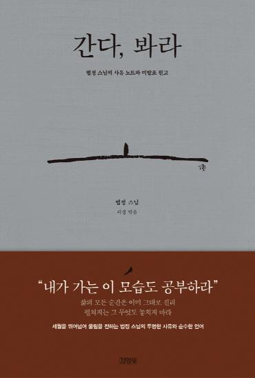 ▲'간다, 봐라' 책 표지(김영사)