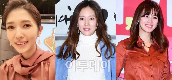 ▲왼쪽부터 김경란, 왕빛나, 정가은.(출처=김경란 SNS, 이투데이 DB.)