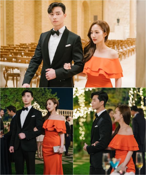 ▲'김비서가 왜 그럴까' 박서준 박민영(사진=tvN)