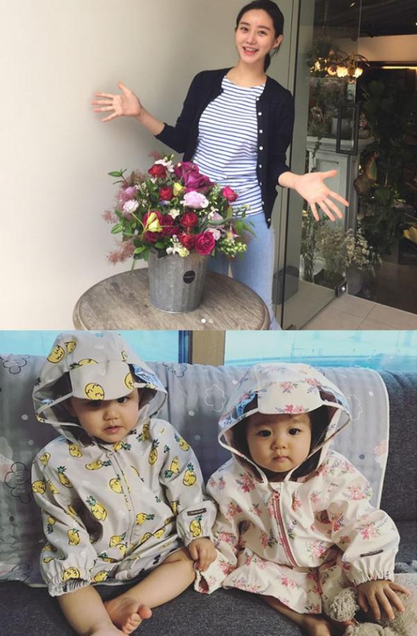 ▲17일 오전 배우 한그루가 쌍둥이 자녀의 사진을 SNS에 공개했다.(사진=인스타그램)