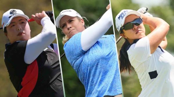 ▲펑샨샨, 브리타니 린시컴, 김세영(왼쪽부터)(사진=LPGA)