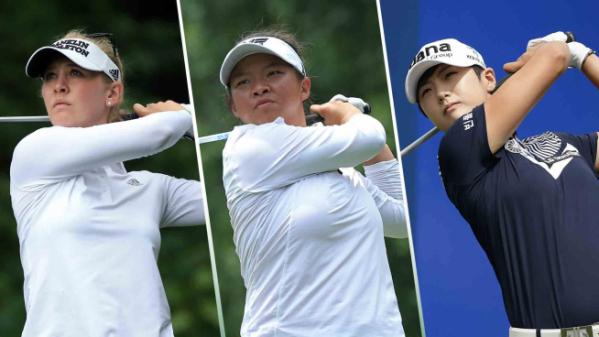 ▲제시카 코다, 메건 캉, 박성현(왼쪽부터)(사진=LPGA)