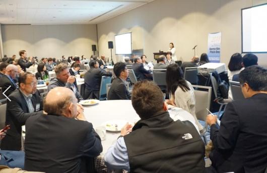 ▲미국 보스턴에서 4일 열린 RESI 행사에서 국내 스타트업 11개 회사가 IR 발표를 진행했다.