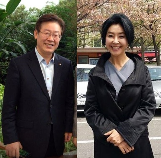 (출처=이재명 후보, 김부선 페이스북)