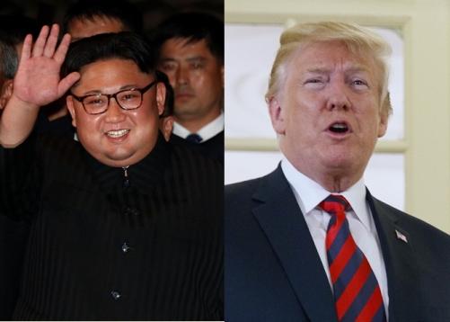 ▲11일(현지시간) 싱가포르에 도착한 김정은(왼쪽) 북한 국무위원장과 같은 날 일찍 현지에 도착한 도널드 트럼프 미국 대통령. 싱가포르/로이터연합뉴스