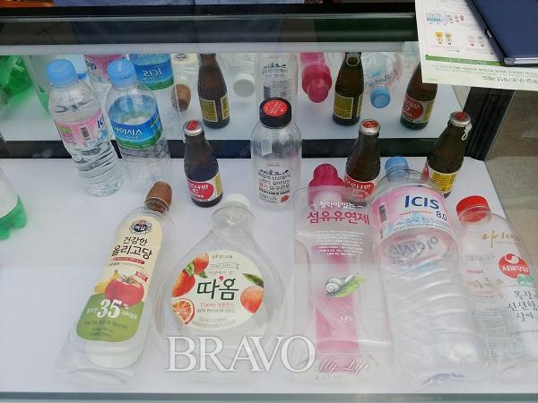 ▲재활용이 가능한 1등급 플라스틱(김행수 동년기자)